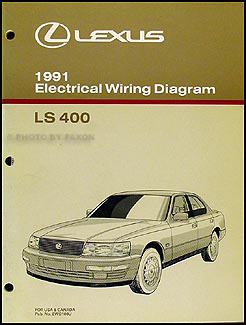 1991 Lexus LS 400 Wiring Diagram Manual Original