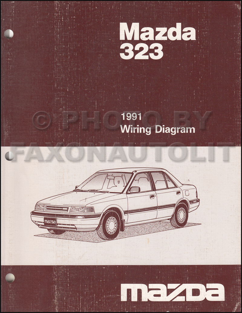 1991 Mazda 323 And Protege Repair Shop Manual Original