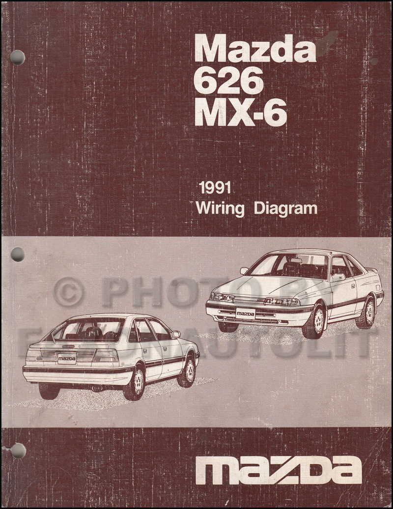 early 1991 Mazda 626 MX-6 Wiring Diagram Manual Original