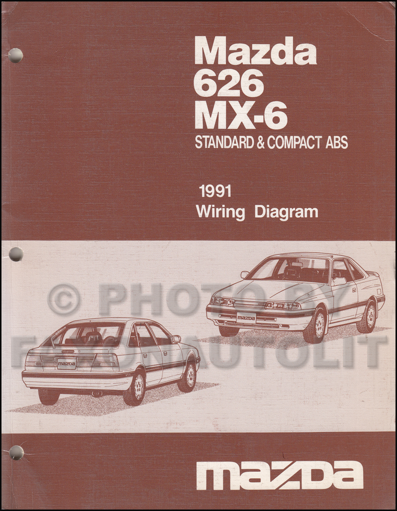 late 1991 Mazda 626 and MX-6 Wiring Diagram Manual Original