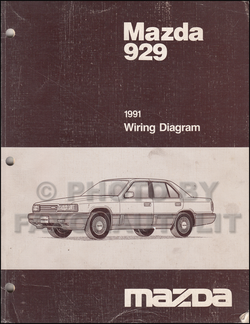 1991 Mazda 929 Wiring Diagram Manual Original