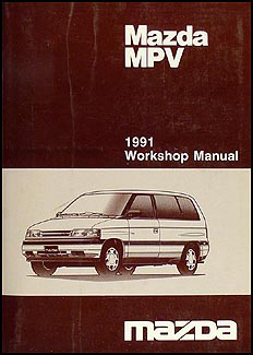 1991 Mazda MPV Repair Manual Original