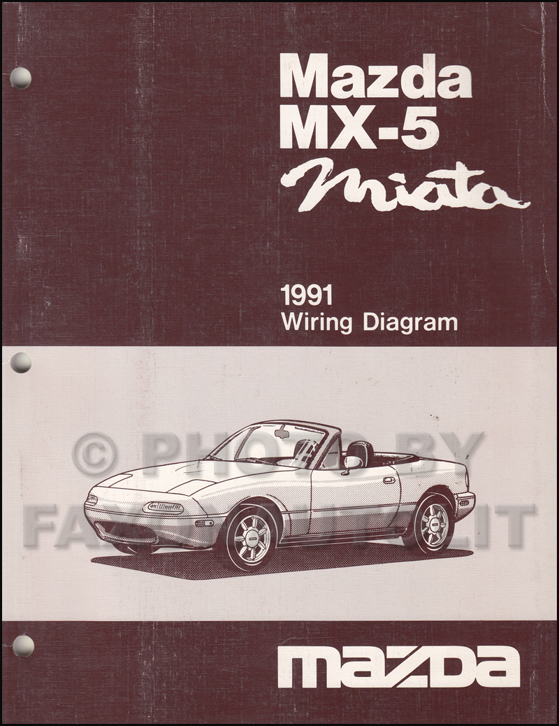 1991 Mazda Mx 5 Miata Repair Shop Manual Original 2002 Wiring Diagram Related Products
