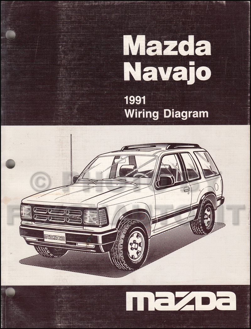1991 Mazda Navajo Wiring Diagram Manual Original