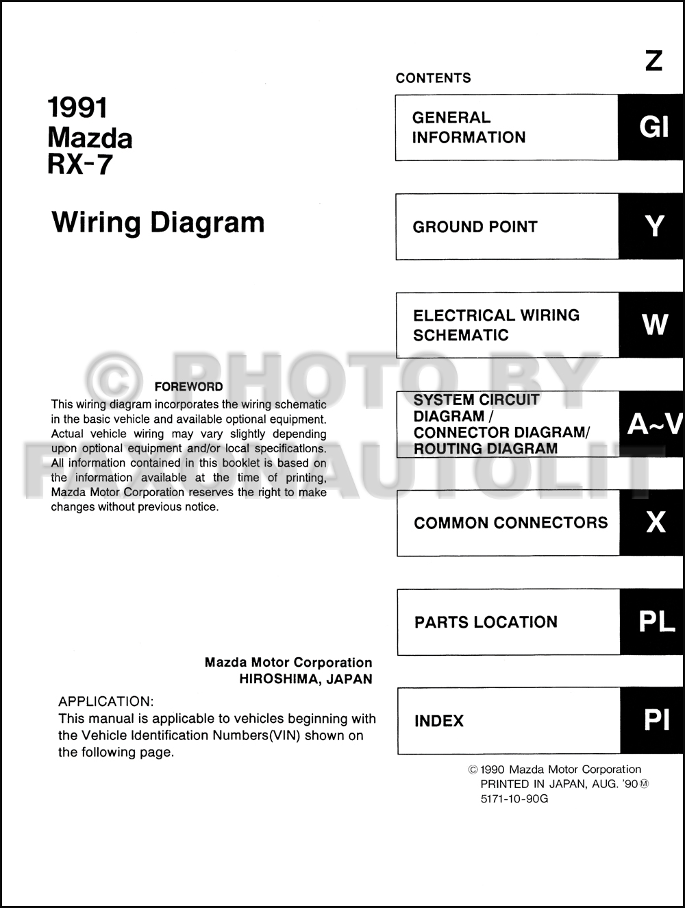 1991 Mazda Rx 7 Wiring Diagram Manual Original Rx7 1984 Engine Click On Thumbnail To Zoom