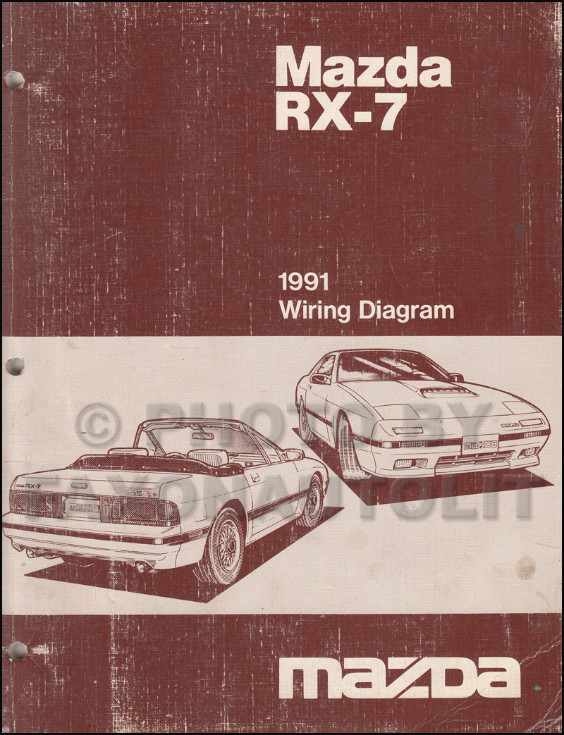 1991 Mazda RX-7 Wiring Diagram Manual Original RX7