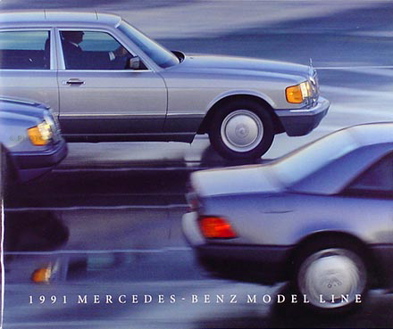 1991 Mercedes Sales Folder Original--All Models