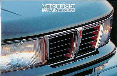 1991 Mitsubishi Original Sales Catalog 91 3000GT/Eclipse/Montero