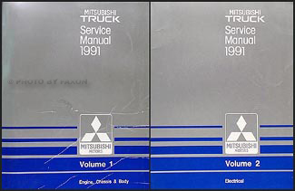 1991 Mitsubishi Truck Repair Manual Set Original
