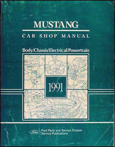1991 Ford Mustang Shop Manual Original