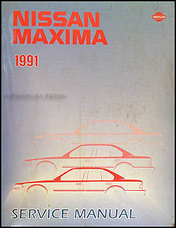 1991 Nissan Maxima Repair Manual Original