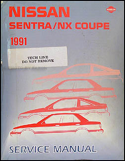 1991 Nissan Sentra/NX Coupe Repair Manual Original