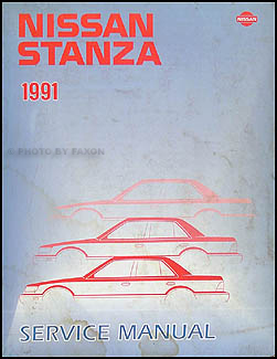 1991 Nissan Stanza Repair Manual Original