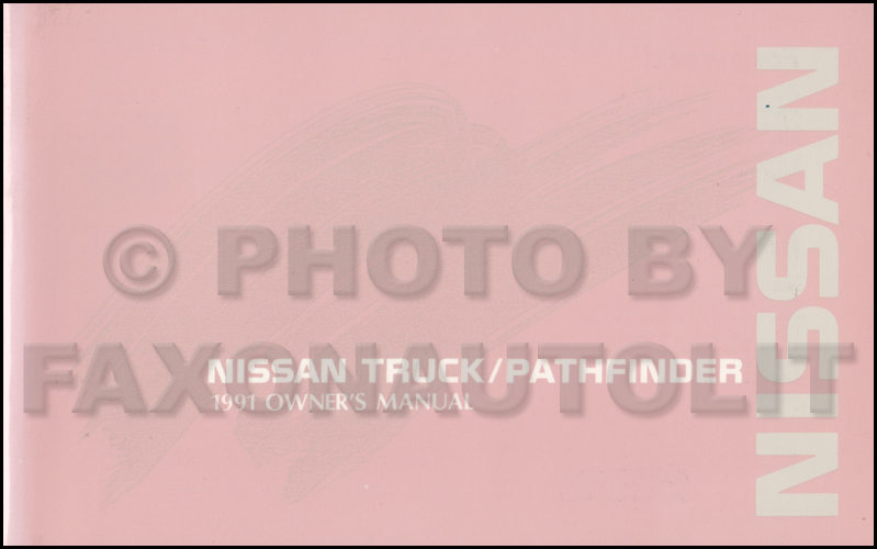 1991 Nissan Truck And Pathfinder Wiring Diagram Manual
