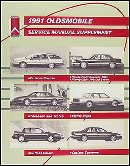 1991 Olds Shop Manual Supplement Original