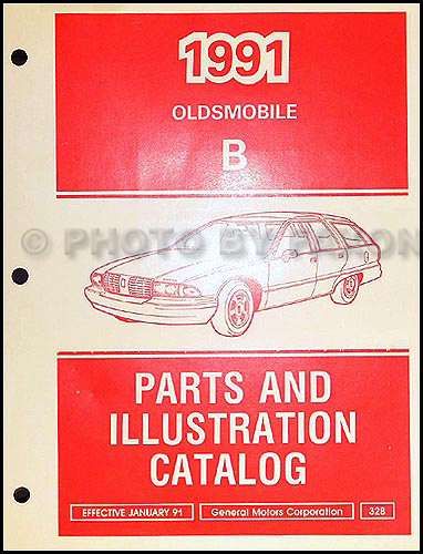 1991 Oldsmobile Custom Cruiser Station Wagon Parts Book Original