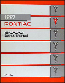 1991 Pontiac 6000 Repair Manual Original