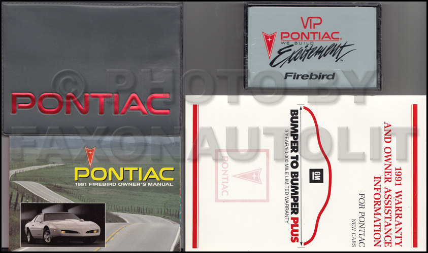1991 Pontiac Firebird and Trans Am Owner's Manual Package with Cassette Original