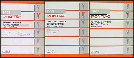 1991 Pontiac Grand Prix Repair Manual Original 3 Volume Set