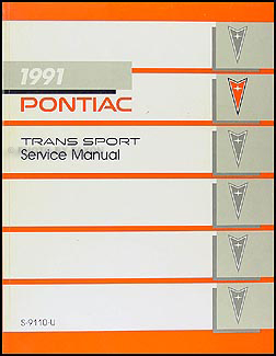 1991 Pontiac Trans Sport Van Repair Manual Original