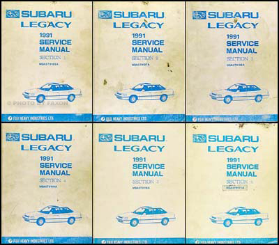 1991 Subaru Legacy Repair Manual Set Original