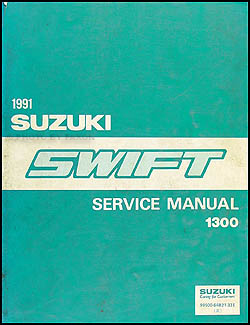 1991 Suzuki Swift 1300 Repair Manual Original