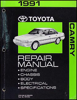 1991 Toyota Camry Repair Manual Original