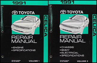1991 Toyota Celica Repair Manual Original 2 Volume Set