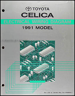 1991 Toyota Celica Wiring Diagram Manual OriginalFaxon Auto Literature