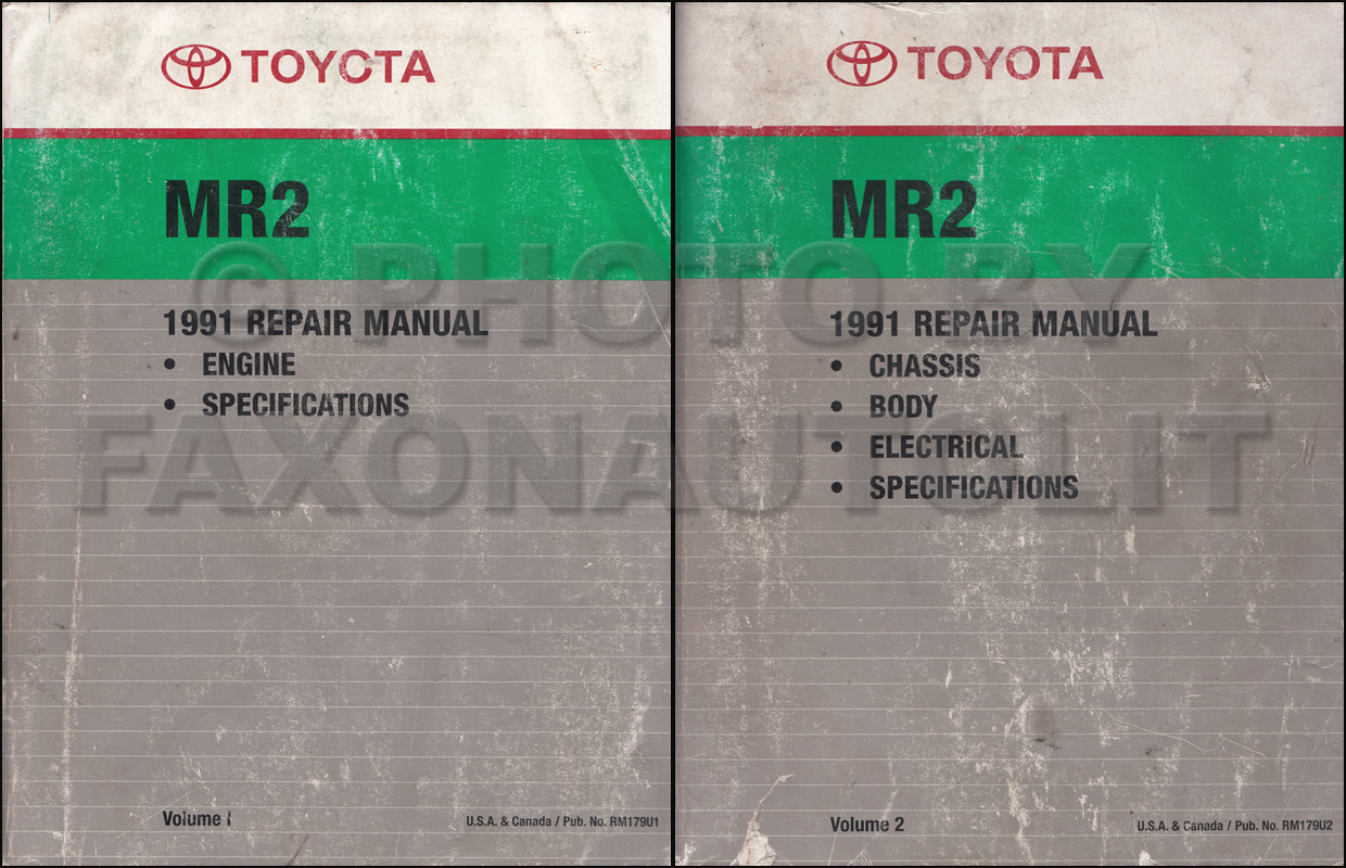 Toyota 91 Cressida Wiring Diagram 1991 Mr2 Repair Manual Original 2 Volume Set