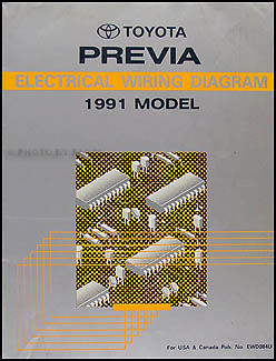 1991 Toyota Previa Wiring Diagram Manual Original