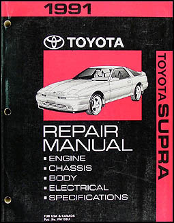 1991 Toyota Supra Repair Manual Original