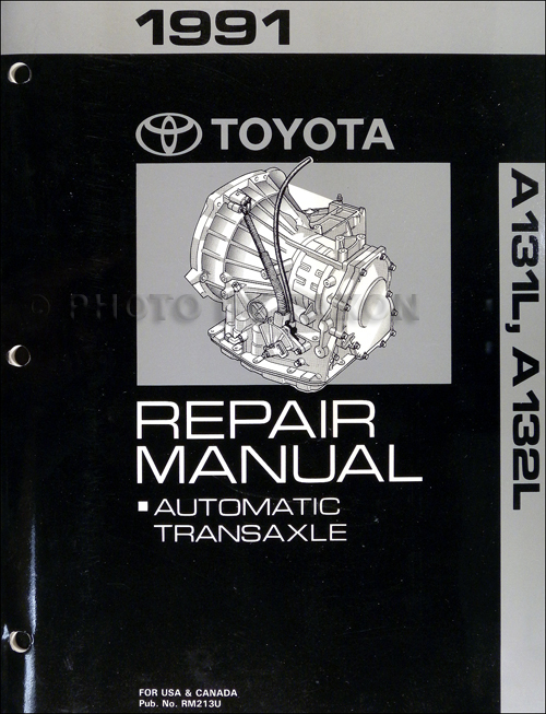 1991 Toyota Tercel Corolla 3 Speed Auto Transmission Repair Shop Manual