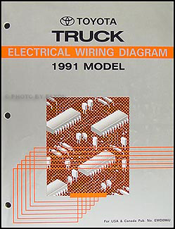 1991 Toyota Pickup Truck Wiring Diagram Manual on
