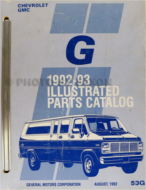 1992-1993 Chevrolet and GMC Full-Sized G Van Parts Book Original