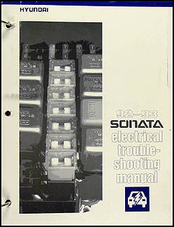 1992-1993 Hyundai Sonata Electrical Troubleshooting Manual Original