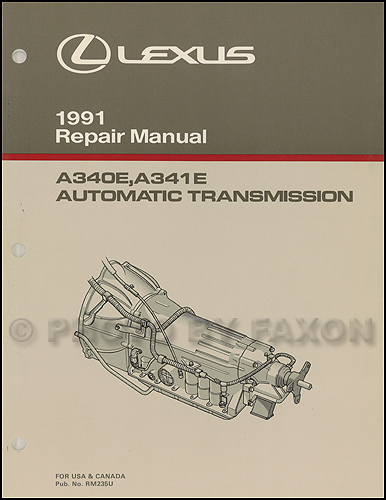 1992-1993 Lexus LS400 and SC400 Automatic Transmission Repair Manual Original