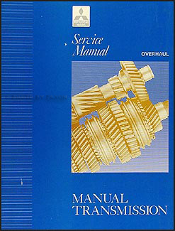 1992-1993 Mitsubishi Manual Transmission Overhaul Manual Original