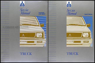 1992-1993 Mitsubishi Truck Repair Manual Set Original