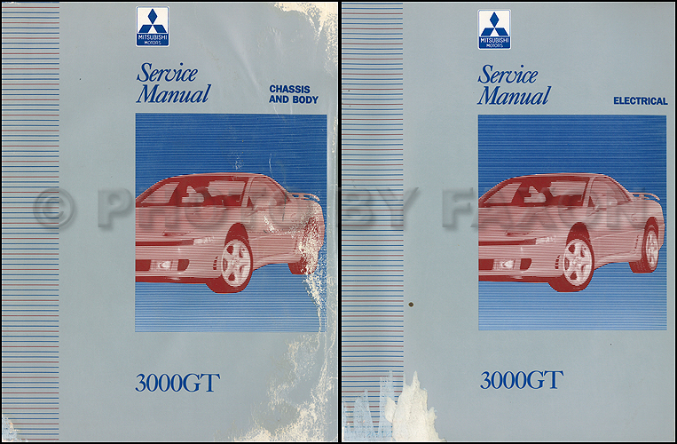 1992-1994 Mitsubishi 3000GT Original Repair Shop Manual 2 Vol. Set