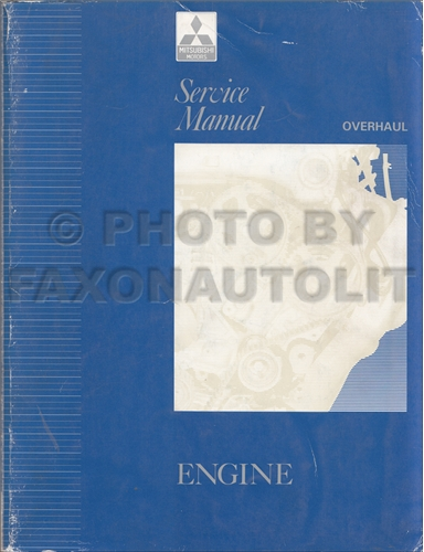 1992-1994 Mitsubishi Engine Overhaul Manual Original