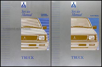 1992-1994 Mitsubishi Truck Repair Manual Set Original