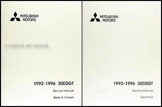 1992-1996 Mitsubishi 3000GT Repair Manual Set