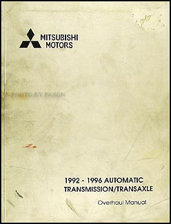 1992-1996 Mitsubishi Automatic Transmission Overhaul Manual Factory Reprint