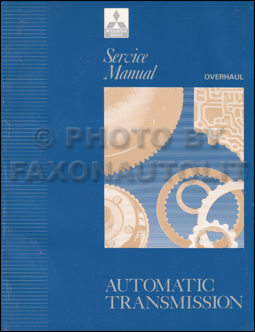 1992-1996 Mitsubishi Automatic Transmission Overhaul Manual Original