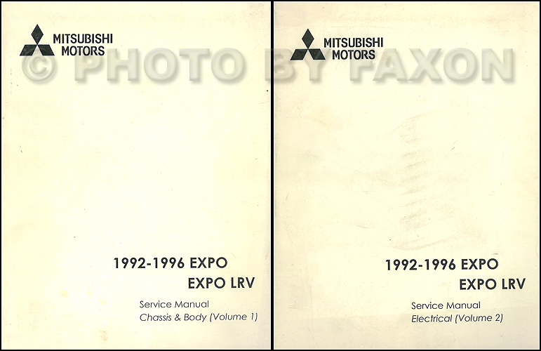 1992-1996 Mitsubishi Expo/Expo LRV Service Shop Manual Original 2 Volume Set