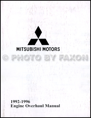 1992-1996 Mitsubishi Engine Overhaul Manual Factory Reprint