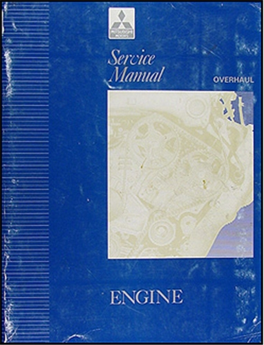 1992-1996 Mitsubishi Engine Overhaul Manual Original