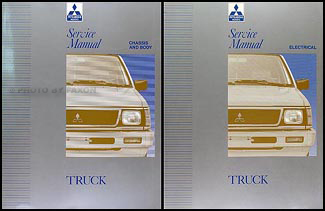 1992-1995 Mitsubishi Truck Repair Manual Set Original
