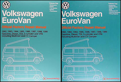 1992-1999 VW EuroVan Bentley Repair Manual